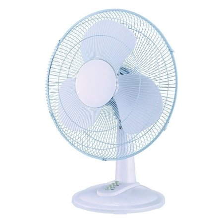3 Speed Oscillating Table - Pelonis  Table Fan  16 in. H 3 speed Oscillating AC  3 blade White