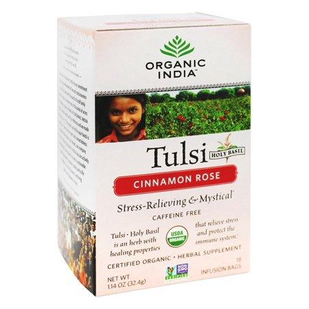 Organic India - Tulsi thé de cannelle Rose - 18 sachets de thé