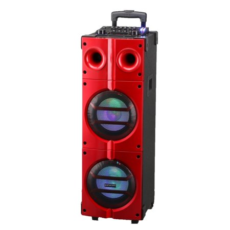 8x2 Inch Bluetooth Dj Speaker Portable Party With Guitar Input, Wireless