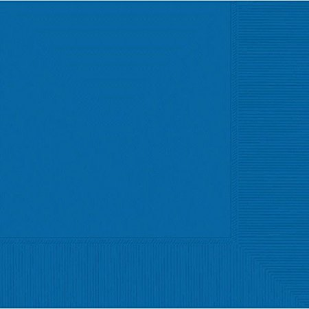 Marine Blue Dinner - Amscan Party Ready Disposable 3-Ply Dinner Napkins, Marine Blue, 8
