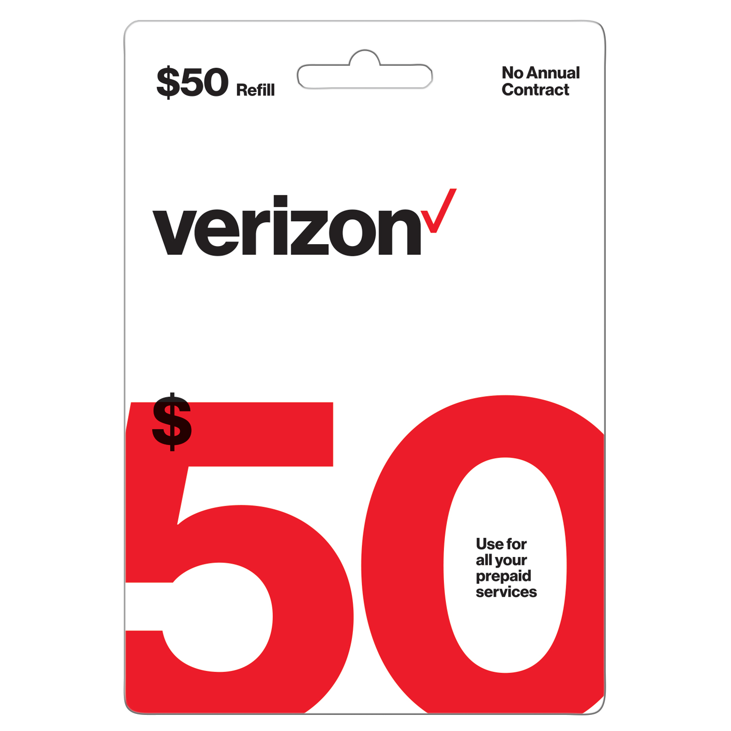 Verizon Wireless $50 Prepaid Refill Card (Email Delivery)