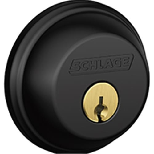 DEADBOLT SINGLE CYL MATTE BLK