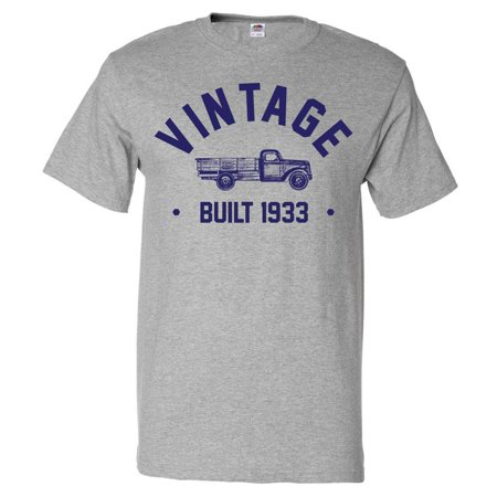 86th Birthday Gift T shirt 86 Years Old Present 1933 Truck Tee