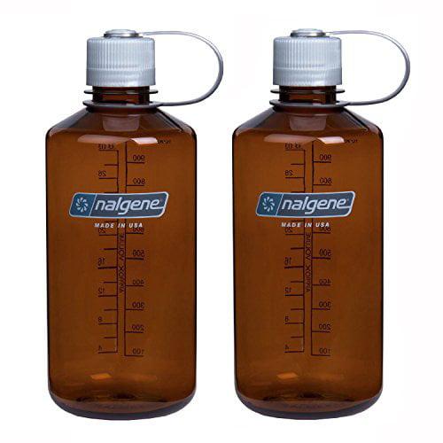 NALGENE Tritan 1-Quart Narrow Mouth BPA-Free Water Bottle (Rustic Orange Set of 2, 2 Count)