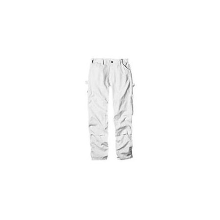 Dickies 2053WH 3830 Mens Double Knee Painter's Pant, 38x30, White