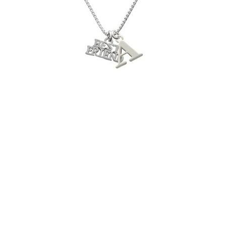 Silvertone Best Friend - A - Initial Necklace