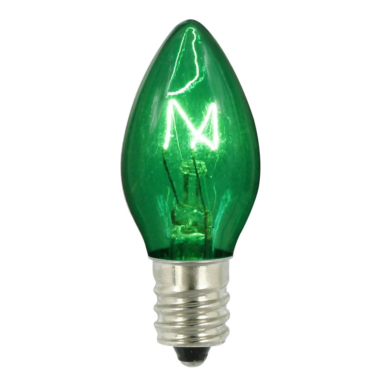 Vickerman C7 Transparent Green 130V 5W Bulb