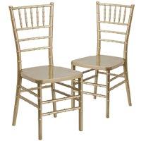 Flash Furniture 2-Pack HERCULES PREMIUM Series Resin Stacking Chiavari Chair, Multiple Colors