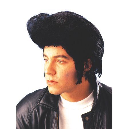 Loftus Elvis Rock Singer 1950s Rockabilly Costume Wig, Black, One Size