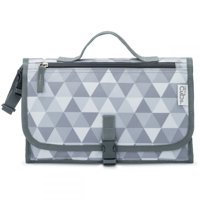 Baby Portable Changing Pad, Diaper Bag, Travel Mat Station, Large Grey Pattern