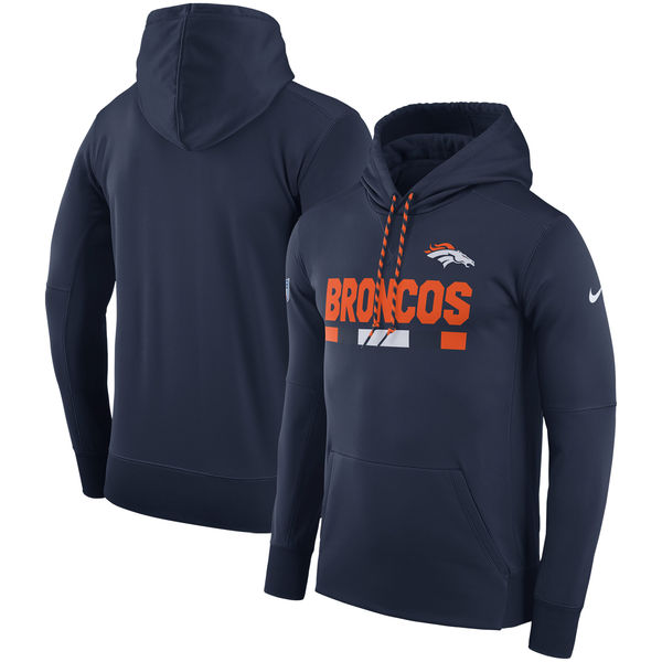Denver Broncos Nike Men's Therma Fit Sideline Hoodie Pullover Sweatshirt XL