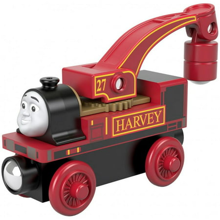 Thomas & Friends Wood Harvey Industrial Crane Engine Train