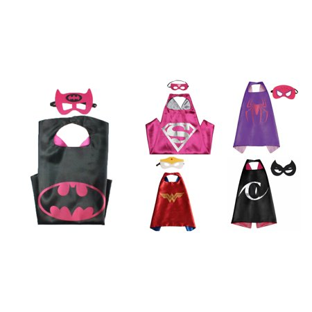 5 Set Superhero  Costumes - Capes and Masks with Gift Box by Superheroes - Funny Superheroes Costumes