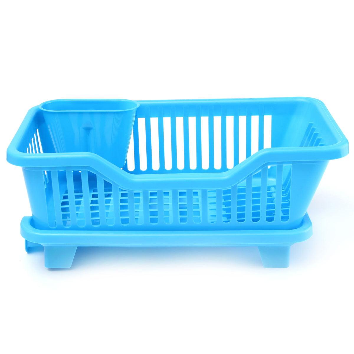 MOHOO Kitchen Dish Drainer Drying Rack Washing Holder Basket ...