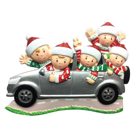 Family Series Car SUV Family of 5 Personalized Christmas Ornament DO-IT-YOURSELF ()