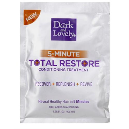Dark and Lovely 5-Minute Total Restore Conditioning Treatment 1.75 oz (Pack of 3)