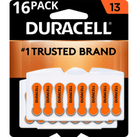 Duracell Hearing Aid Batteries with Easy-Fit Tab Size 13 16 Pack