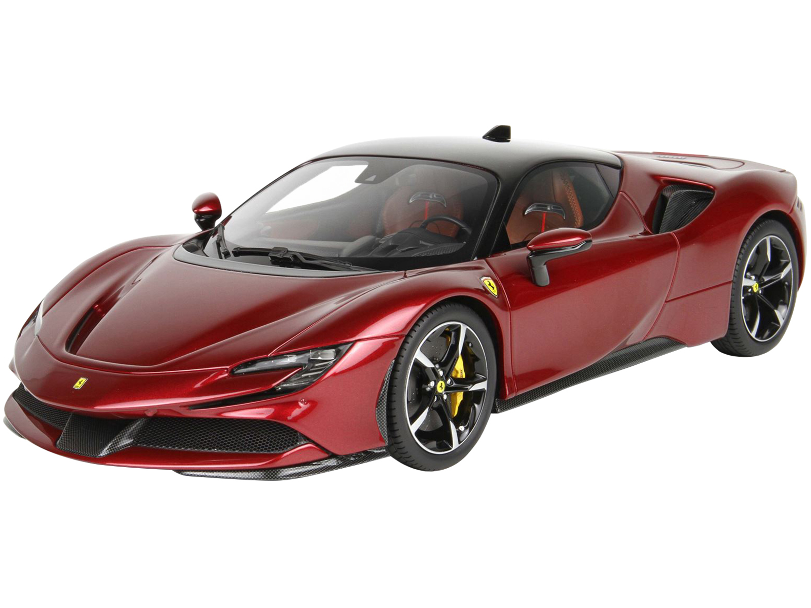 2019 Ferrari Sf90 Stradale Rosso Fiorano Red Metallic With Black Top With Display Case Limited Edition To 200 Pieces Worldwide 1 18 Model Car By Bbr Walmart Com Walmart Com