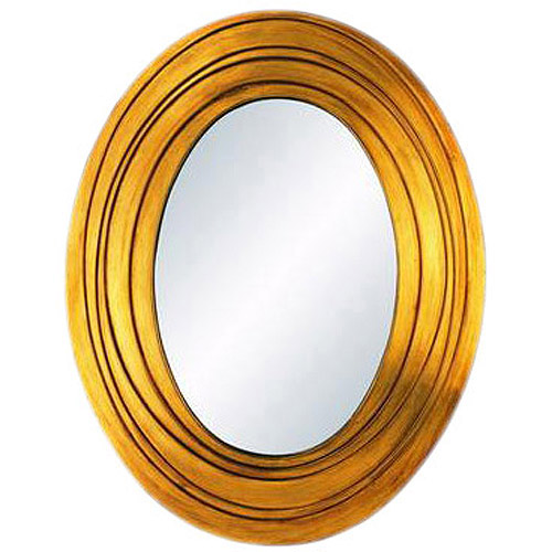 OK Lighting Golden Ripple Mirror