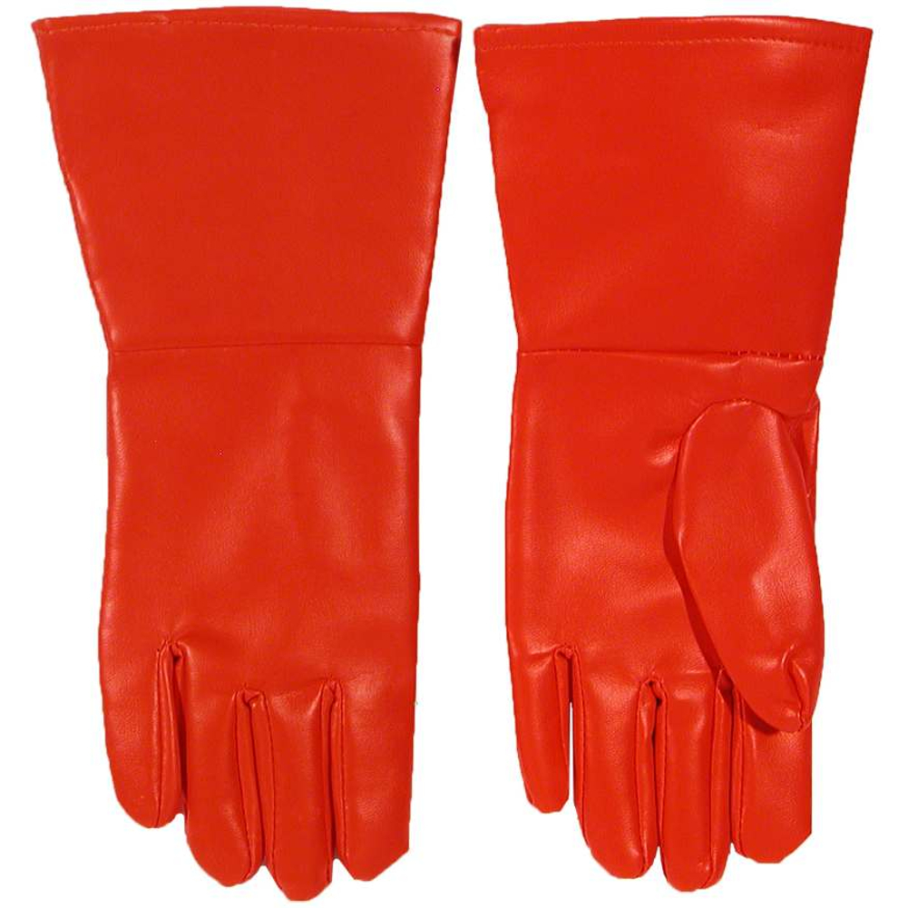 Red Superhero Gloves PVC Oversized Superman Flash Spiderman Comics Costume