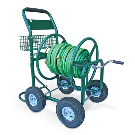 - Liberty Garden Residential and Industrial 4 Wheel Hose Reel Cart