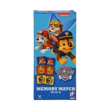 Novelty Character Accessories Cardinal Nickelodeon Paw Patrol Memory Match Game (36pc Set) Tea Party Match Game