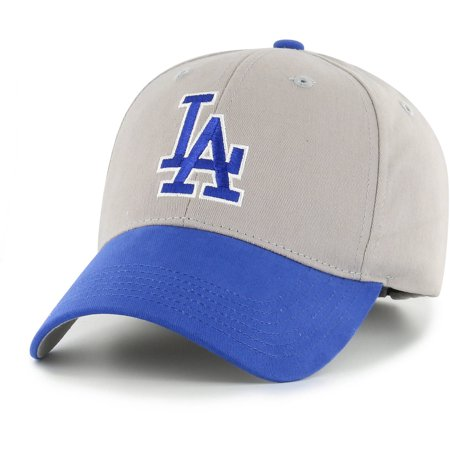 Pewter La Dodgers Baseball - MLB Los Angeles Dodgers Basic Cap/Hat by Fan Favorite