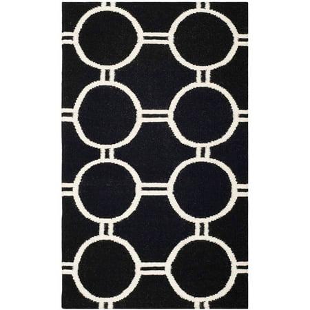 Safavieh Dhurrie Sloane Geometric Circles Area Rug or Runner ()
