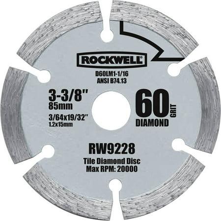 Rockwell Versacut 3 3/8 Diamond Grit Blade Early Entry Diamond Blade