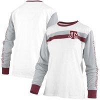 Texas A&M Aggies Pressbox Women's Schroeder Ringer Two-Hit Long Sleeve T-Shirt - White