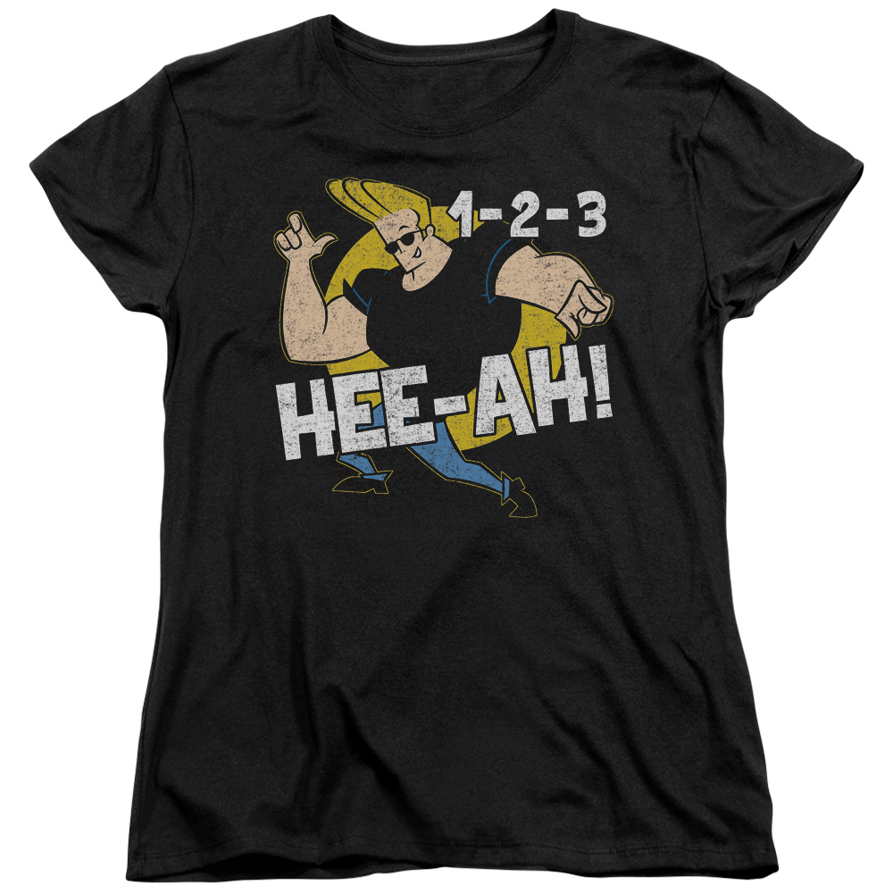 Johnny Bravo 123 Womens Short Sleeve Shirt