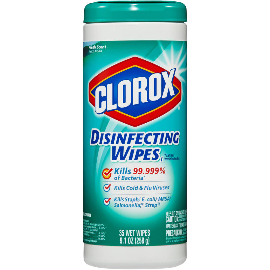 Clorox Disinfecting Wipes, Fresh Scent, 35 Count Canister