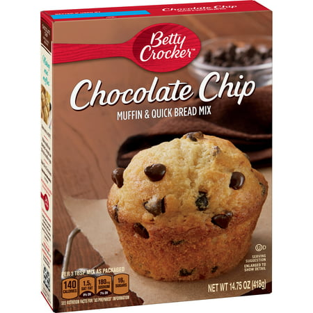 (12 Pack) Betty Crocker Chocolate Chip Muffin and Quick Bread Mix, 14.75 oz
