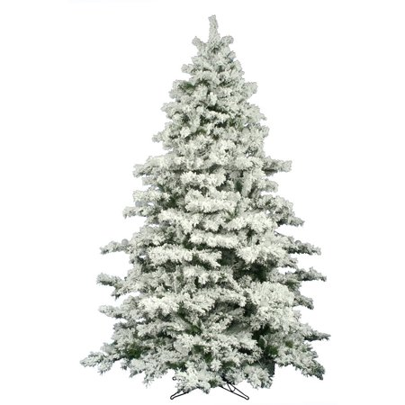 Vickerman 10' Flocked Alaskan Artificial Christmas Tree - Unlit