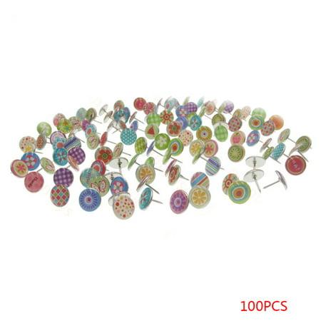 100PCS Soft Flat Steel 11mm Thumb Tacks Push Pins for Photos Wall/Maps/Bulletin Board/Corkboards](Pins For Sale)