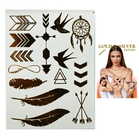 Flash Tattoos Birds of a Feather Avian Themed Temporary Tatoos (14 Tattoos) (Ocean Themed Tattoos)