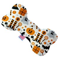 Classic Halloween 8 Inch Canvas Bone Dog Toy