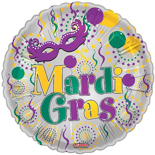 Mardi Gras Celebration Foil Balloon