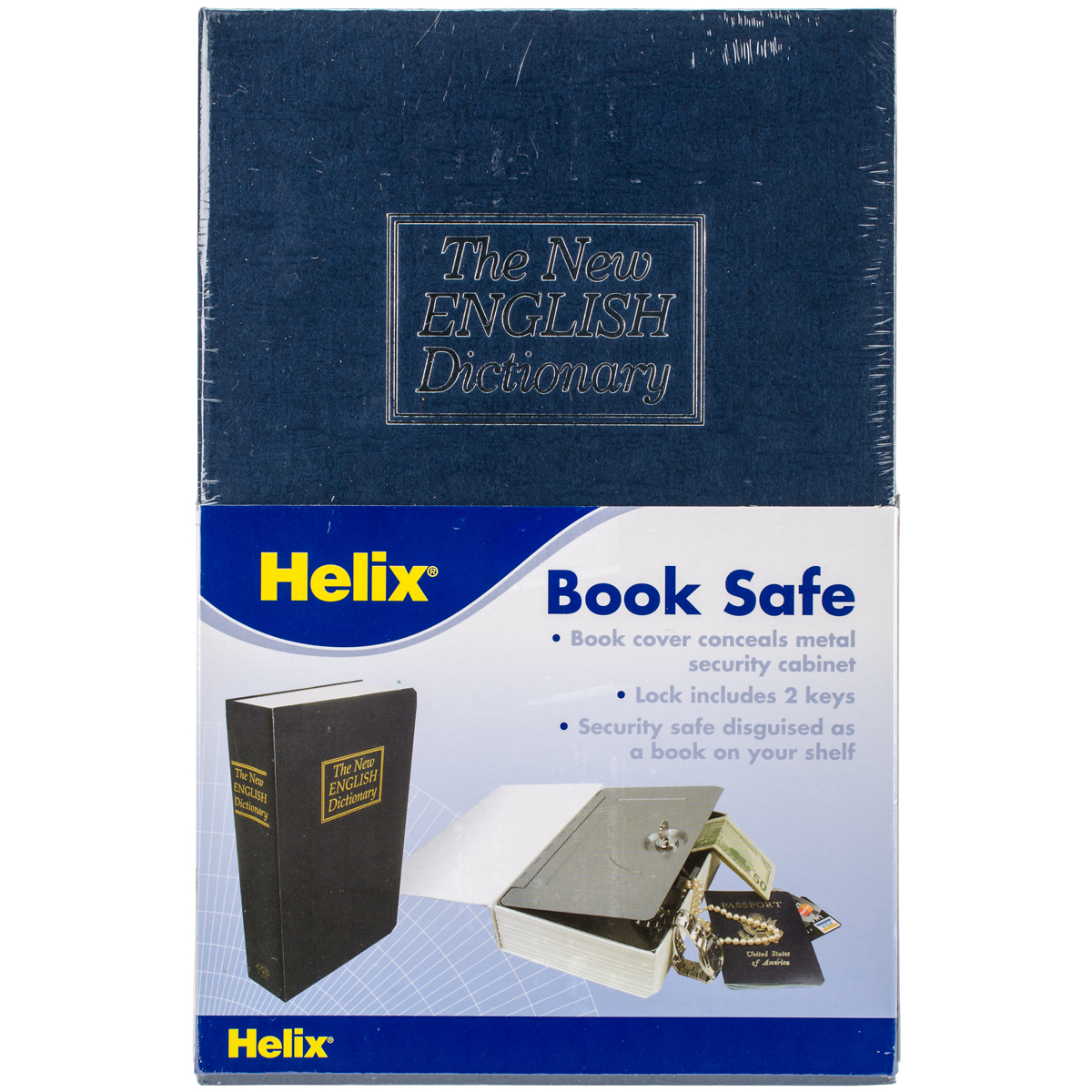 Hardback Dictionary Book Safe-Blue