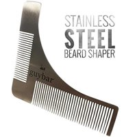 Guybar Beard Shaper - Grooming Template and Comb to Create Perfect Curves and Lines for Your Beard, Goatee and Neck - By Guybar
