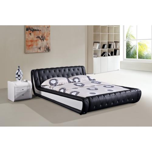US Pride Furniture Dorian 2-piece Black and White Modern Bed