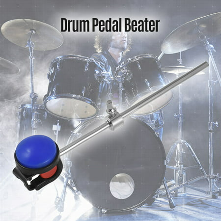 Bass Drum Beater Kick Drum Foot Pedal Beater Stainless Steel Shaft Silicone Head Accessory for Percussion Instrument Pack of 1 Dark (Kick Beater)