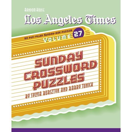 Los Angeles Times Sunday Crossword Puzzles, Volume 27 - Halloween Activities For Toddlers Los Angeles