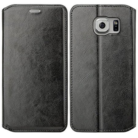 hot sale online a2f22 e2728 Samsung Galaxy S6 Edge Plus Wallet Case. Pu Leather Magnetic  Fold[Kickstand] Wallet Case with ID & Card Slots for Galaxy S6 Edge Plus -  Black
