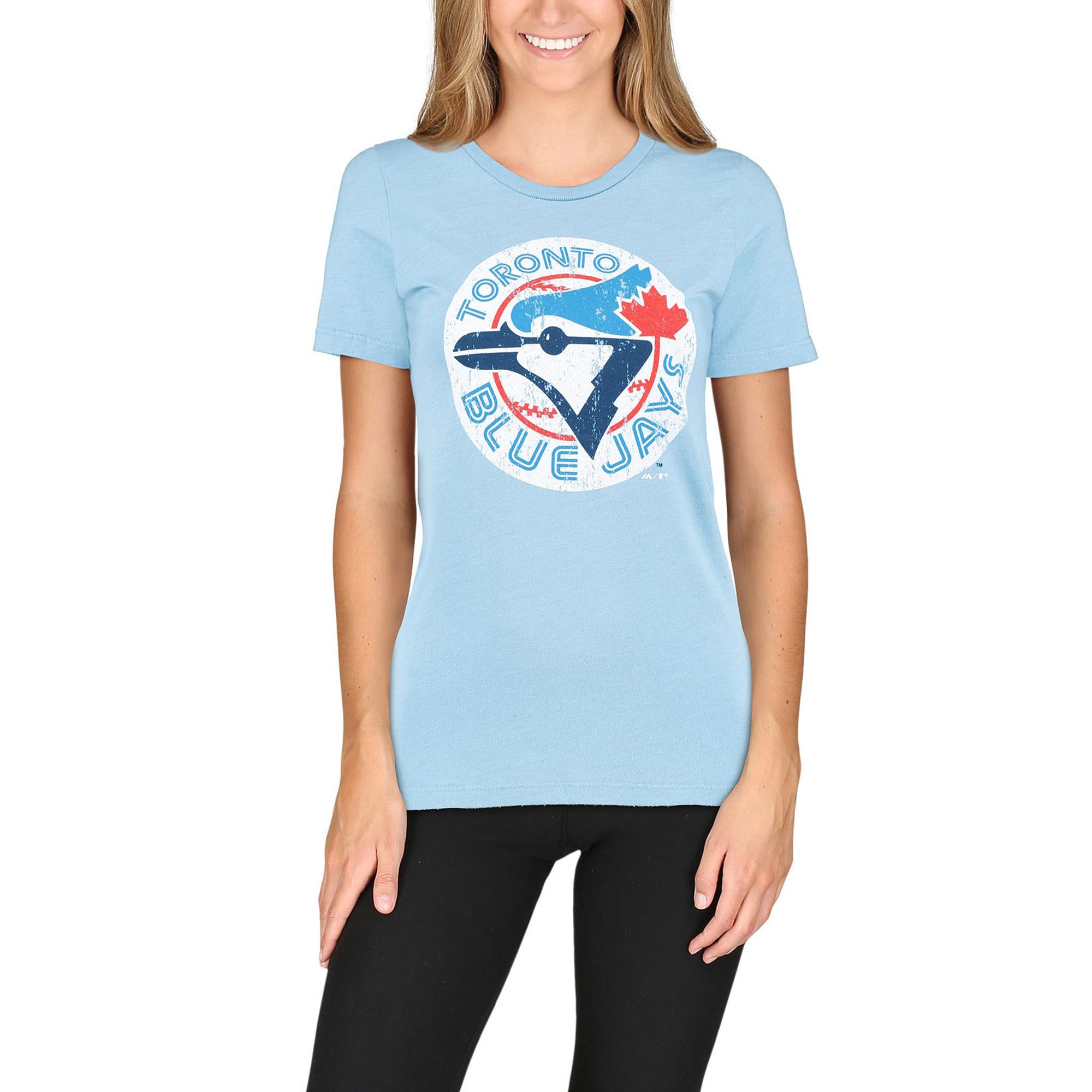 Toronto Blue Jays Majestic Threads Women's Cooperstown Tee - Light Blue