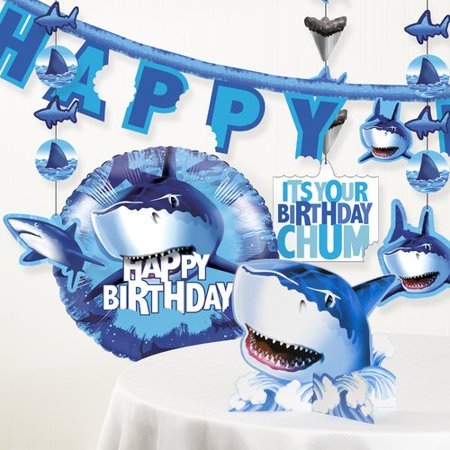 The Party Aisle Shark Splash Birthday Party Decoration Kit