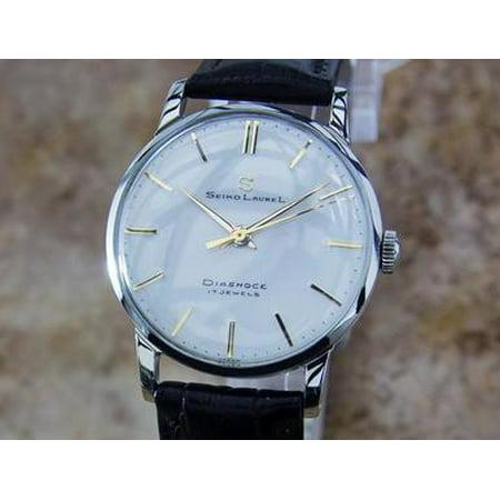 Seiko Laurel 1960s Manual Made in Japan 33mm Vintage Stainless St Mens Watch Y30 (Men Vintage Watch)