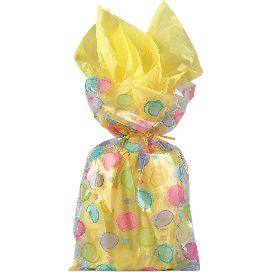 Colorful Polka Dot Cellophane Bags, 20ct