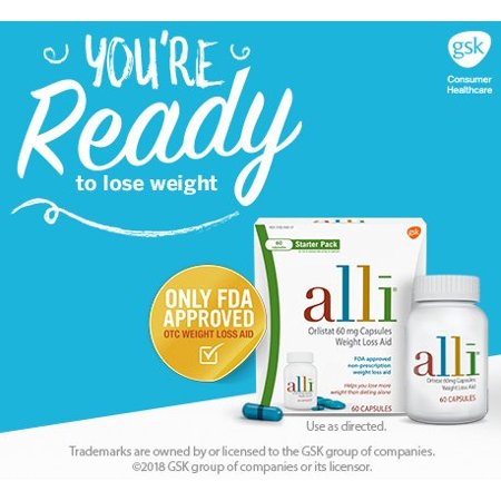 Alli Diet Weight Loss Supplements Collection Walmart Com