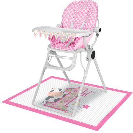 Creative Converting Farmhouse Girl Birthday High Chair Kit